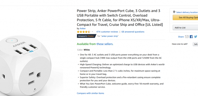 Screenshot_2019-05-10 Amazon com Power Strip, Anker PowerPort Cube, 3 Outlets and 3 USB Portable with Switch Control, Overl[...].png